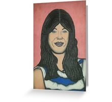 Charcoal and pastel portrait Greeting Card