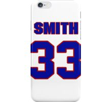 National football player Smith Reed jersey 33 iPhone Case/Skin