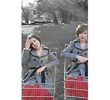 the trolley girl Photographic Print