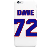 National football player Dave Huffman jersey 72 iPhone Case/Skin