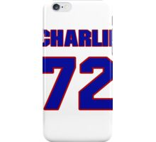 National football player Charlie Johnson jersey 72 iPhone Case/Skin