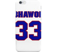 National football player Bhawoh Jue jersey 33 iPhone Case/Skin