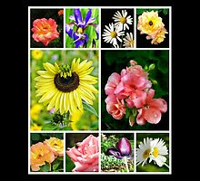 a floral collage by Beth BRIGHTMAN
