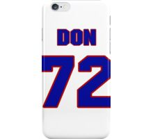 National football player Don Latimer jersey 72 iPhone Case/Skin