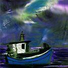 Boat in storm by Anil Nene