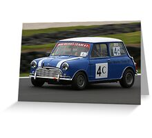 Blue Mini Greeting Card