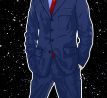 Tenth Doctor and The TARDIS Sticker