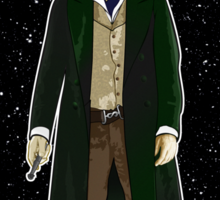 Eighth Doctor and The TARDIS Sticker