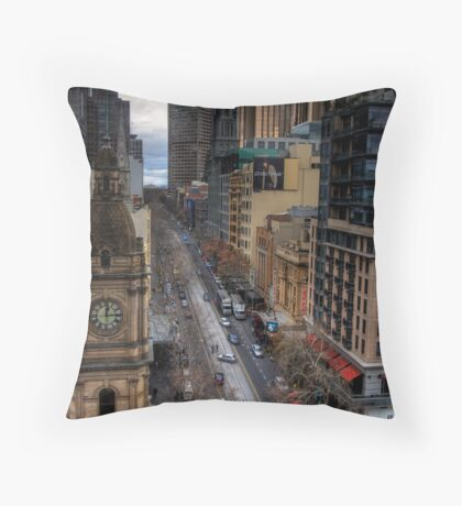Looking down collins Throw Pillow
