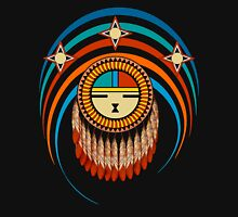Feathered Katsina Sunface Mens V-Neck T-Shirt