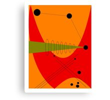 Mid-Century Modern Abstract in Orange Canvas Print