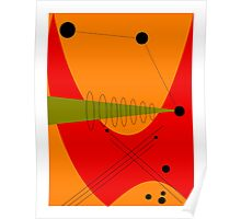 Mid-Century Modern Abstract in Orange Poster