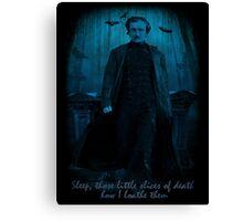Edgar Allan Poe Little Slices of Death  Canvas Print