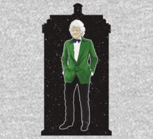 Third Doctor and The TARDIS by Chris Singley