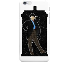 Second Doctor and The TARDIS iPhone Case/Skin