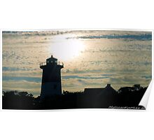 #521    Lighthouse & Diffused Sunlight Poster