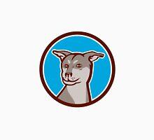 Husky Shar Pei Cross Dog Head Cartoon Unisex T-Shirt