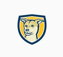 Husky Shar Pei Cross Dog Head Shield Cartoon Unisex T-Shirt