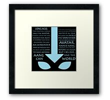 The Last Airbender  Framed Print