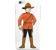 Mounted Police Officer Standing Front iPhone Case/Skin