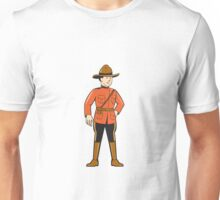 Mounted Police Officer Standing Front Unisex T-Shirt