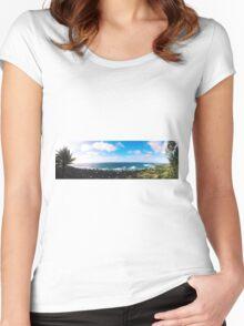 ehukai panorama  Women's Fitted Scoop T-Shirt