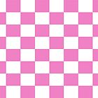 Pink Check Bedspread - Girls Room Duvet Phone Cover by deanworld