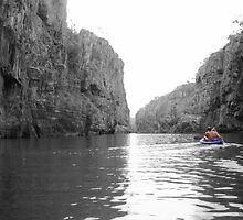 Canoeing Katherine Gorge, Northern Territory by Honor Kyne