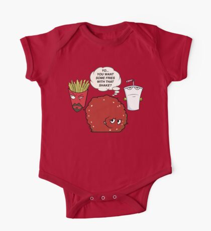 YOU WANT SOME FRIES WITH THAT SHAKE.  One Piece - Short Sleeve