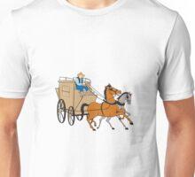 Stagecoach Driver Horse Cartoon Unisex T-Shirt