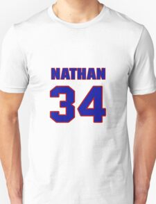 National football player Nathan Poole jersey 34 T-Shirt
