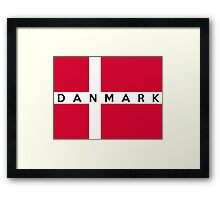 flag of denmark Framed Print