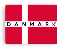flag of denmark Canvas Print