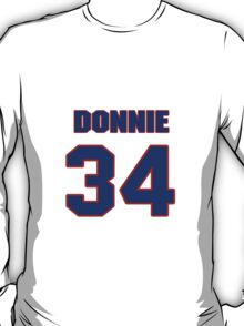 National football player Donnie Stone jersey 34 T-Shirt