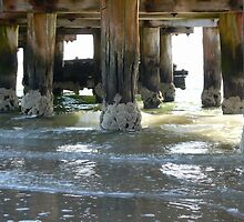 Under the pier by Judi Corrigan