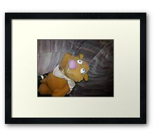 Battered Fozzie Bear. Framed Print