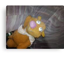 Battered Fozzie Bear. Metal Print
