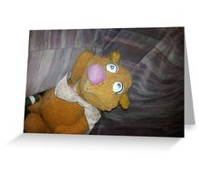 Battered Fozzie Bear. Greeting Card