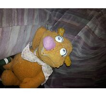 Battered Fozzie Bear. Photographic Print