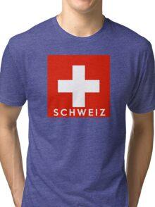 flag of Switzerland Tri-blend T-Shirt