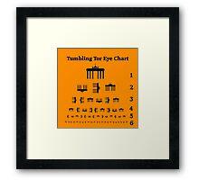 Tumbling Tor Eye Chart Framed Print