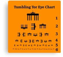 Tumbling Tor Eye Chart Canvas Print