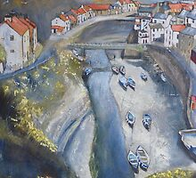 Looking Down, Staithes by Sue Nichol