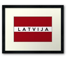 flag of latvia Framed Print