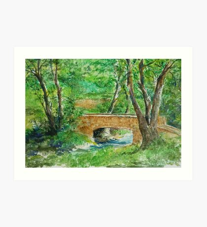Danielle Fuchs' Bridge, Moulin De Perrot Art Print