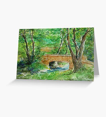 Danielle Fuchs' Bridge, Moulin De Perrot Greeting Card