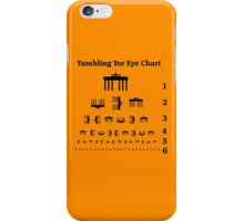 Tumbling Tor Eye Chart iPhone Case/Skin