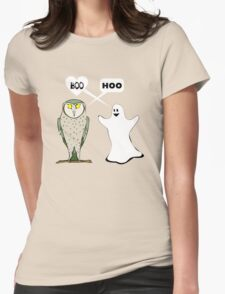 Ghostly valentine Womens Fitted T-Shirt