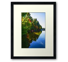 Autumn Lake Mirror - Impressions Of Fall Framed Print