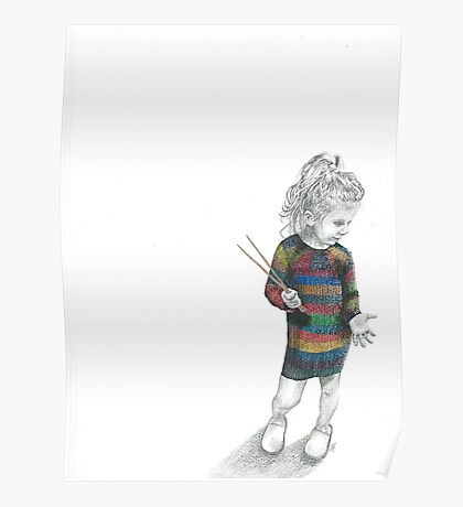 Knitted Dress Poster